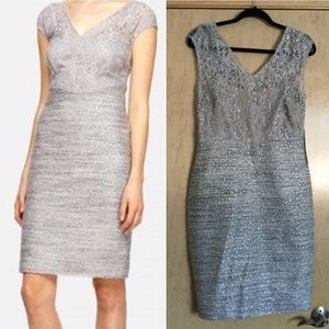 Lace & Tweed Sheath Dress KAY UNGER